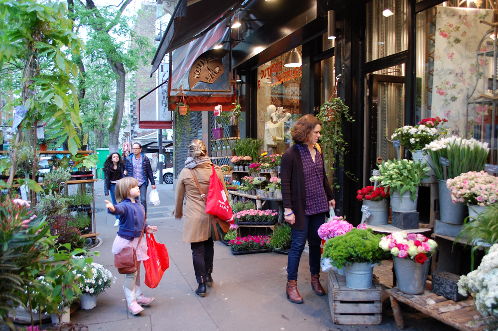 On our way to the party on Sunday evening we stopped by a charming florist to purchase a gift for our host and hostess