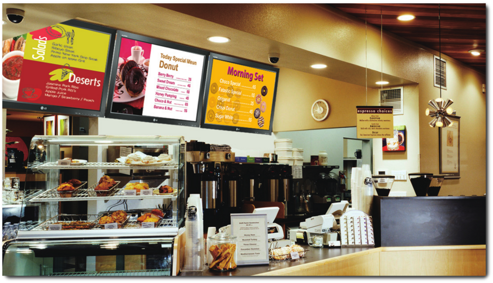 Restaurant Menu Boards   Create beautiful adaptable menus easily, with widescreen digital signage.