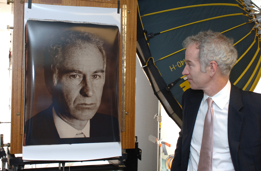 John McEnroe can't believe how the Polaroid film emphasised his freckles.