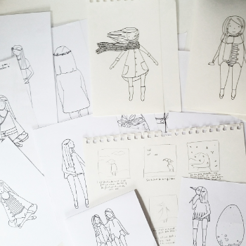 Little Folk sketches by Ruth Allen (2015)