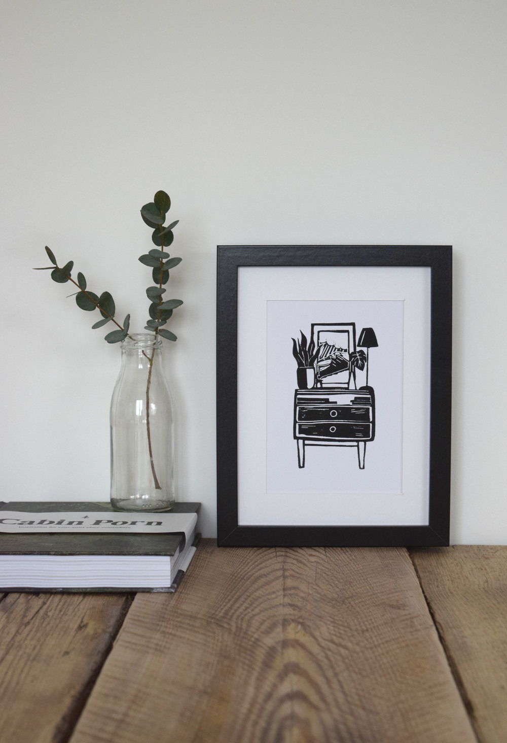 Mid Century The Unit Linoprint by Blue Eggs and Tea (2016)