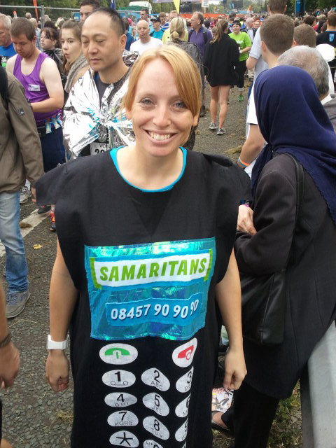 A phone not a calculator. Great North Run.