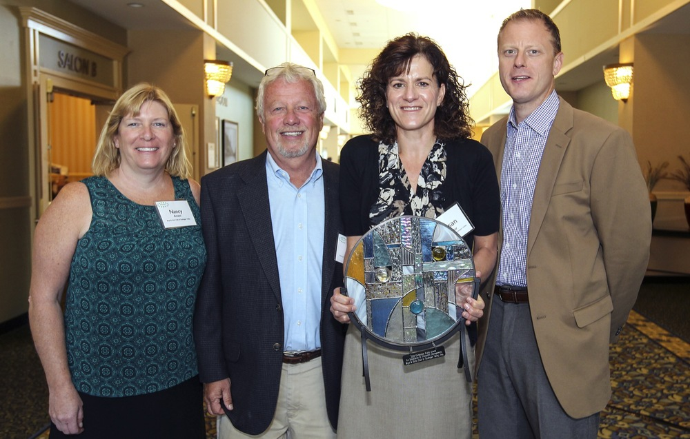 Boys and Girls Club of Souhegan Valley: (left to right) Nancy Amato, Board Member; Paul Amato, Board President; Susan Taylor, Executive Director; and Seth Zeigler, Board Vice President