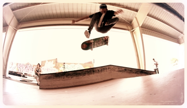 Click Matthew Holifield's photo for his Facebook. Hardflip.