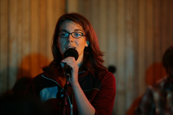 Singing backup for Mary Bragg