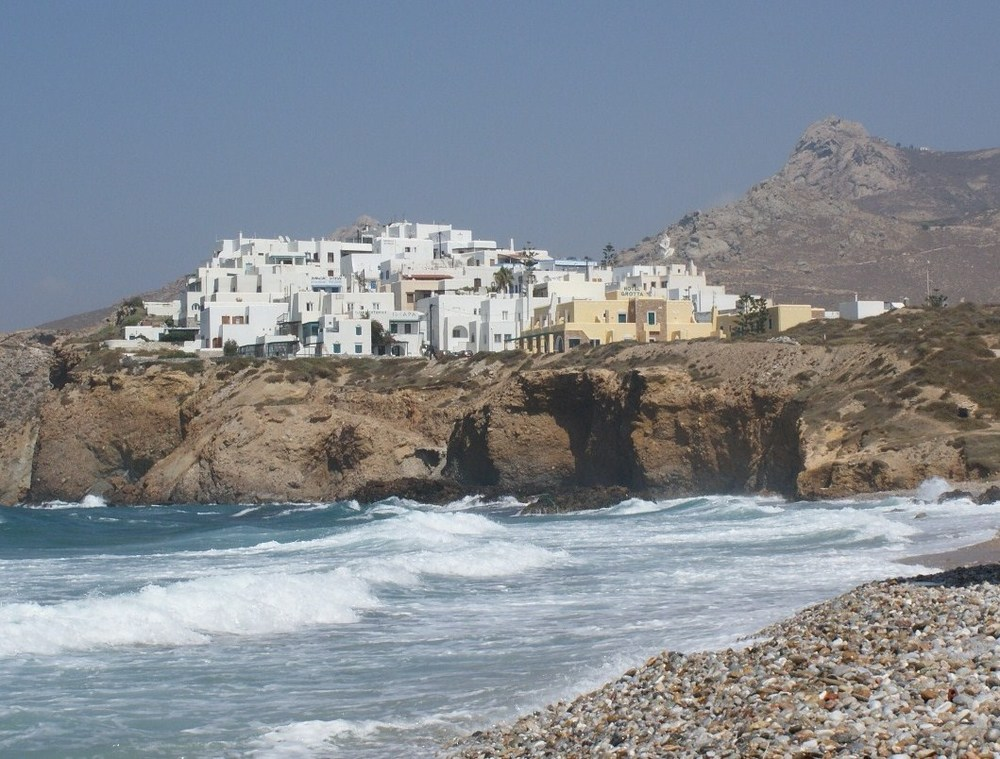 Naxos Island, Greece. A perfect beach to collect sea glass with an enormous amount of mixed size pebbles and stones.