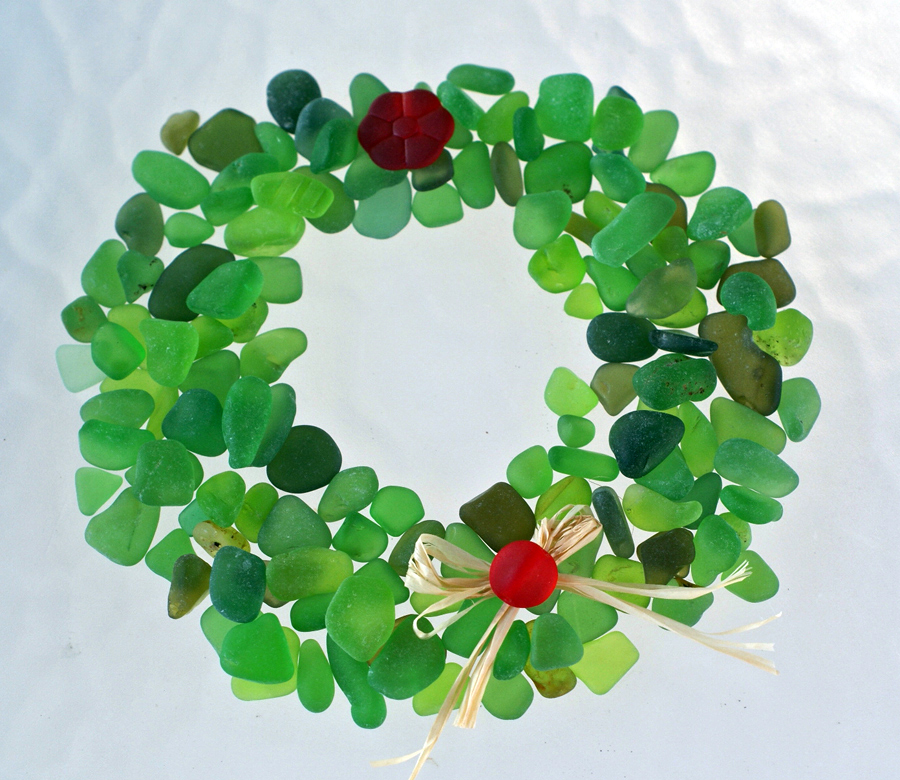 Couldn't resist adding this sea glass wreath.