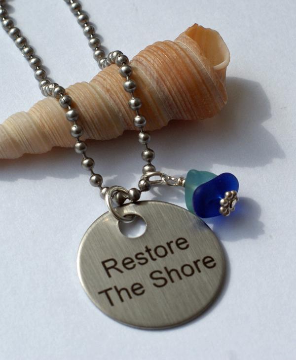 Restore The Shore Sea Glass Necklace