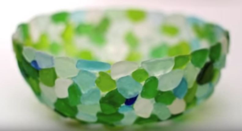 Mix your sea glass anyway that makes you happy, using all one color or as shown here a fun mix.