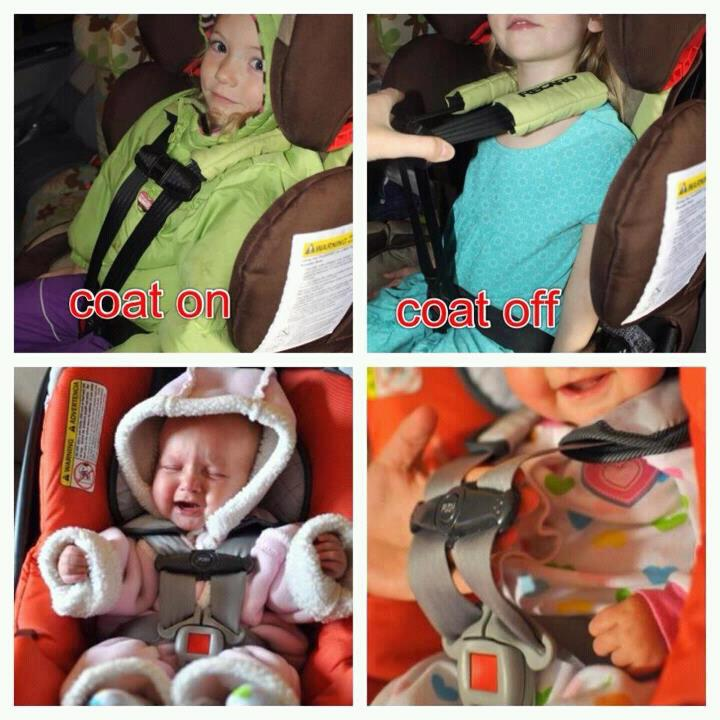 Babies In Car Seats With Coats On