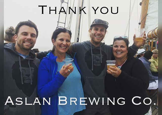 We ran into one of our 2018 Generation Celebration sponsors: @aslanbrewing ! Thank you so much for your sponsorship and beer donation to our event! We cant wait to see you all on 9/15 from 2-6pm on the Barkley Village Green!