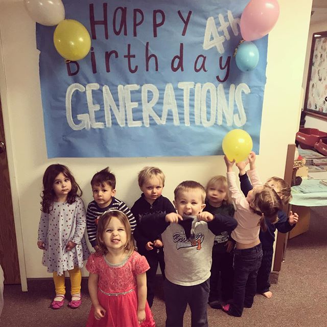 We celebrated our 4th Birthday as Generations today with a party and cake! Here's to many more!