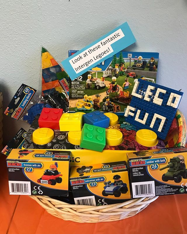 Now this one has some of our Little's at the center VERY excited for Bingo Night! This Lego Basket is full of goodies for builders of any age! $5 raffle tickets are on sale now at the center until tickets are drawn for the winner at the event!