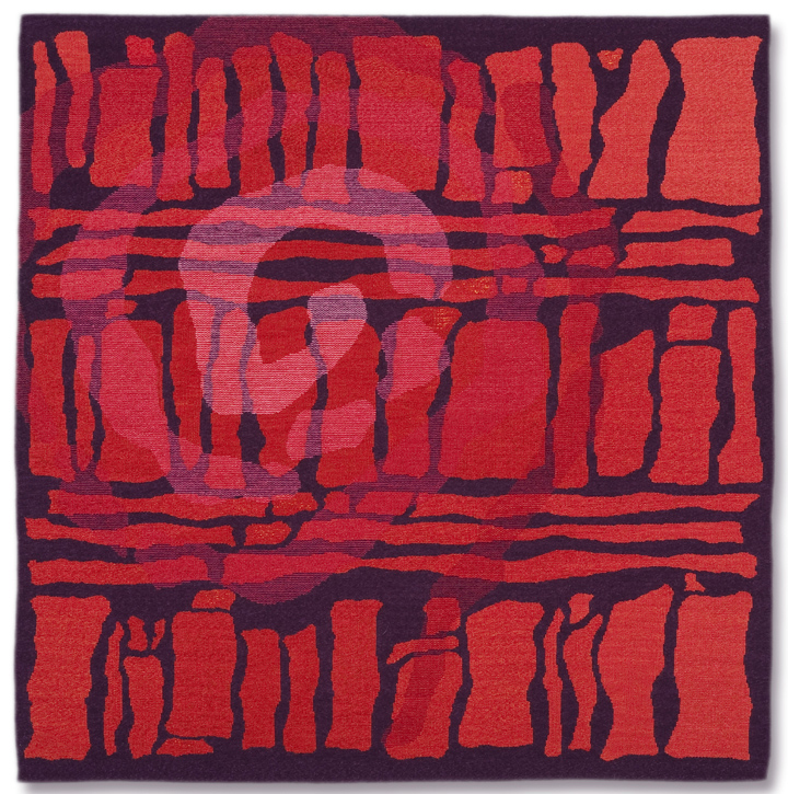 Rebecca Mezoff  Emergence I  48 x 48 inches hand-dyed wool tapestry $6000 photo: James Hart