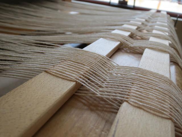 Warping the countermarch loom    — Rebecca Mezoff