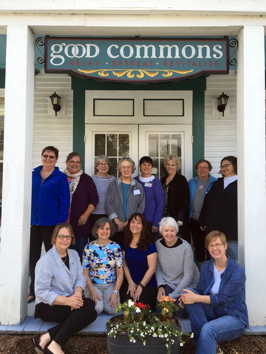 (back) Kathy, Linda, Nancy, Betsy, Linda, Cathie, Ginny, Susan (front) Deb, Gerri, Karen, Christine, Rebecca