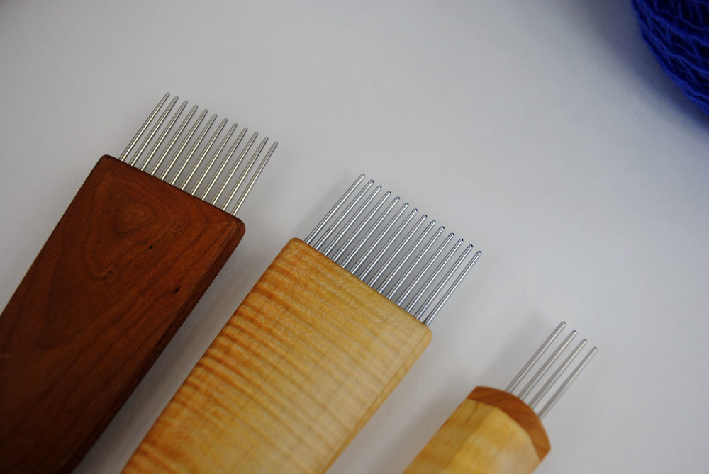 Left to right: 10 tpi, 11 tpi, 7 tpi on the mini