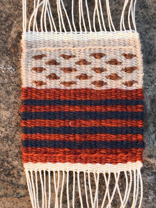 Rebecca Mezoff,  Potsherd 2,  2 x 2 inch tapestry
