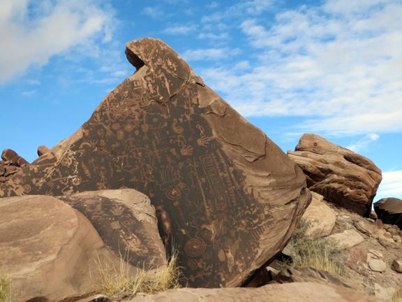 The Flatiron petroglyph