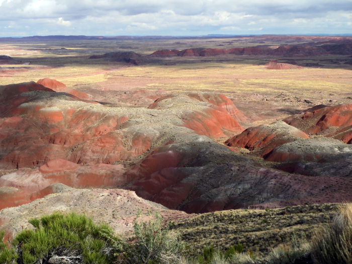 Painted Desert in Petrified Forest NP, near my casita