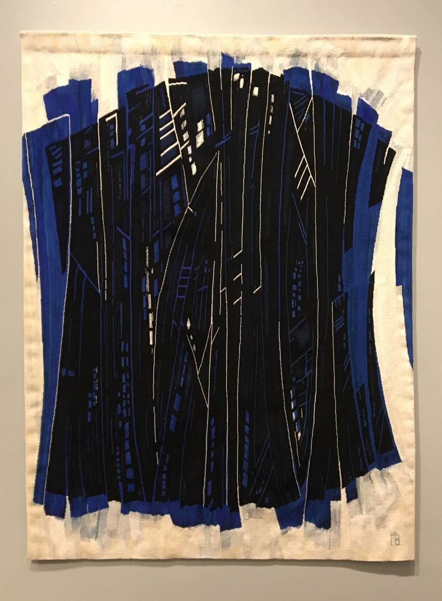 Marie-Thumette Brichard, Laminaires 3, 67 x 49 inches, wool & silk tapestry