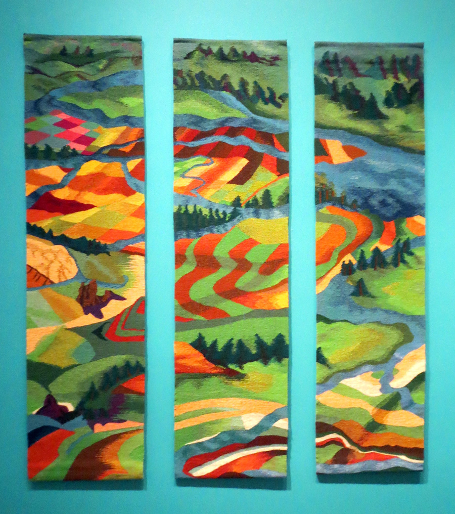 Jan Moore, River, Take Me Along, 66 x 54 inches, wool on cotton warp, tapestry weaving