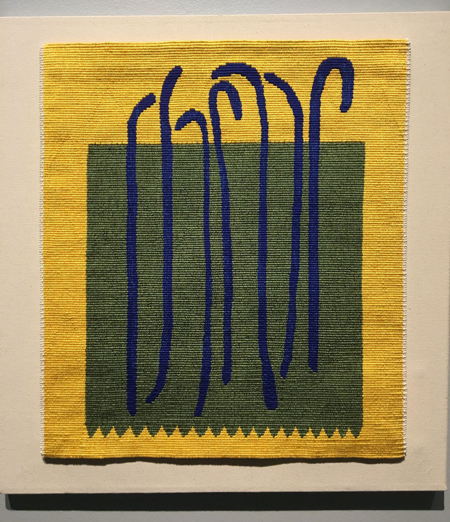 Laura Kamian McDermott, River Bed, 20 x 18 inches, cotton, tapestry weaving