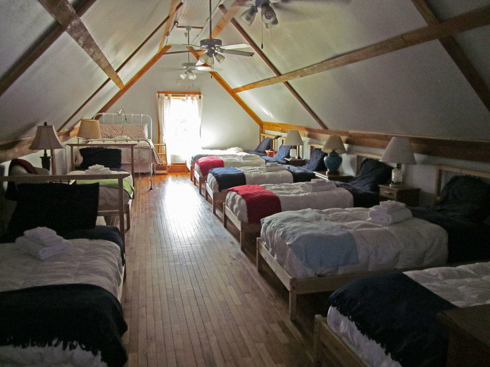The sleeping loft