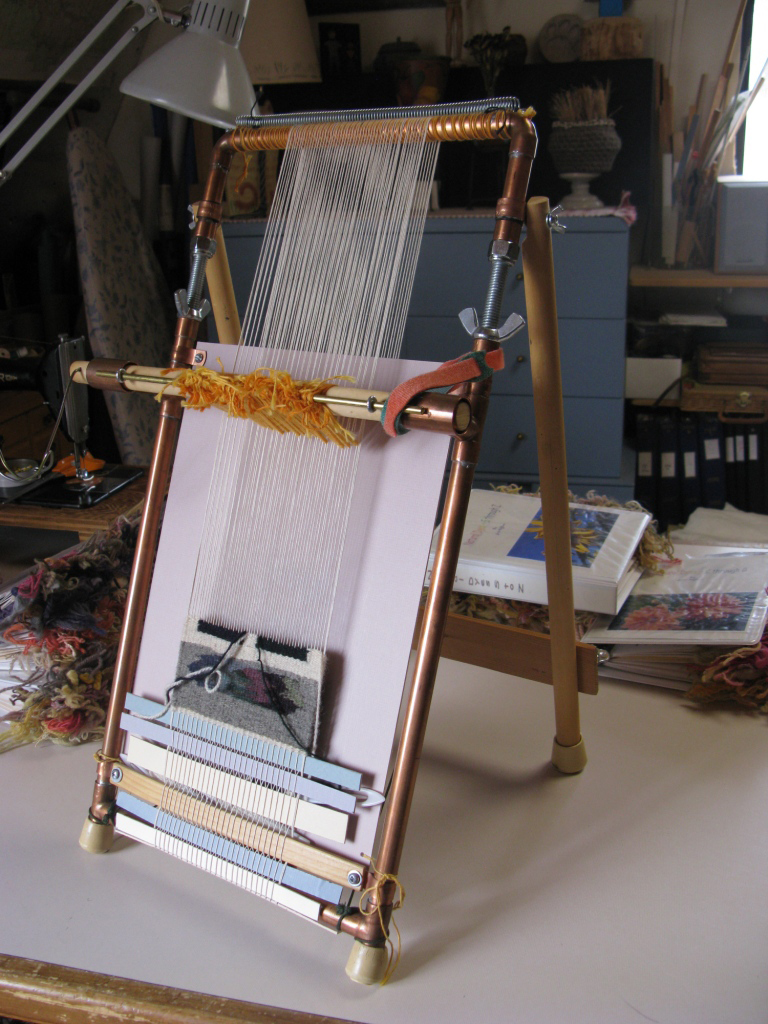 A fancy copper pipe loom