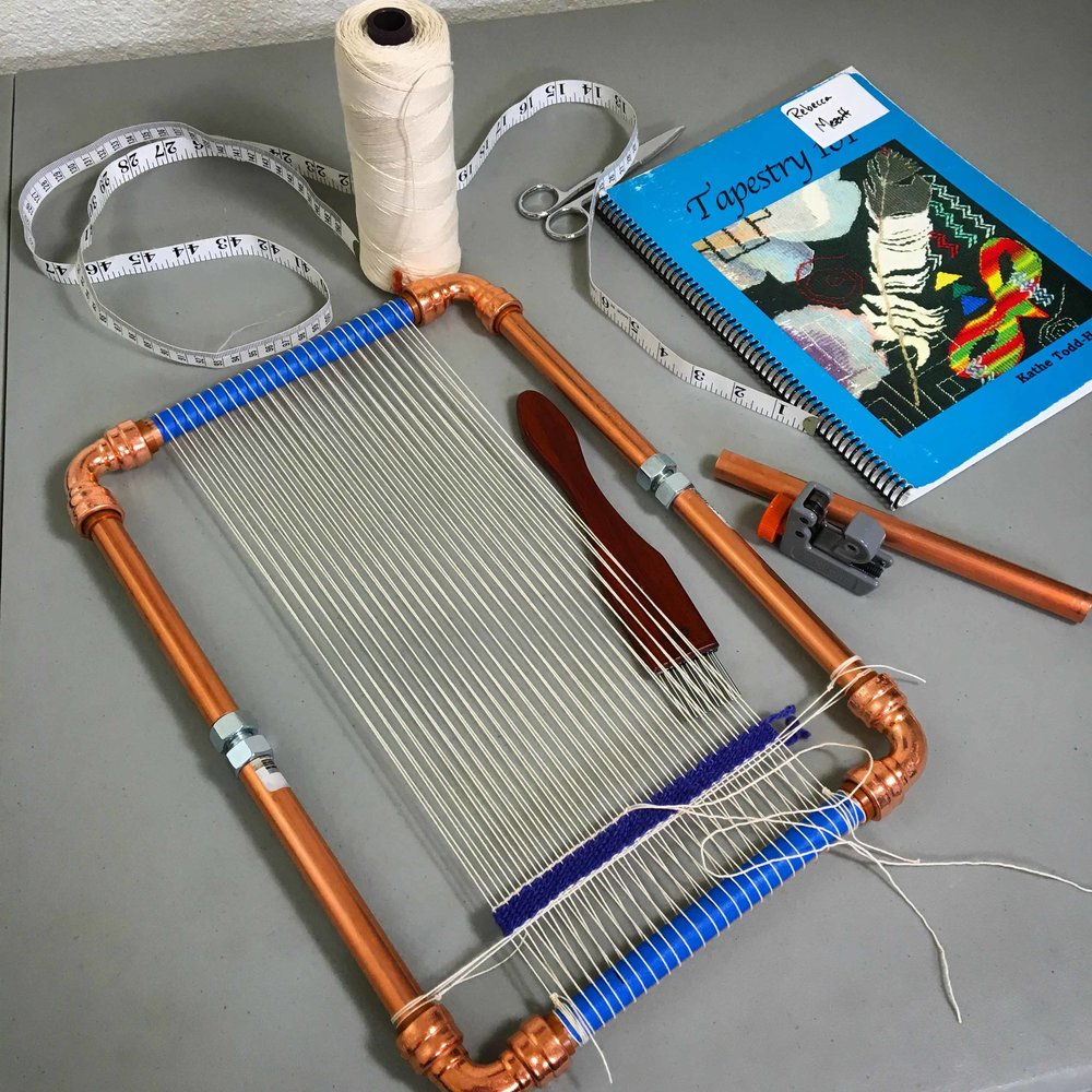 Copper pipe loom