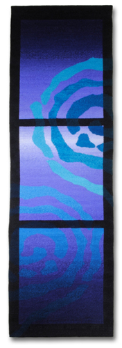 Rebecca Mezoff, Emergence VI, 16 x 49 inches, hand-dyed wool tapestry