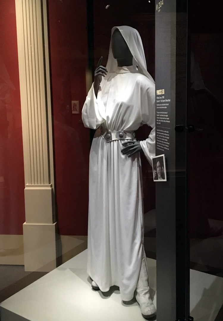 Recreation of a Princess Leia costume from the original movies.
