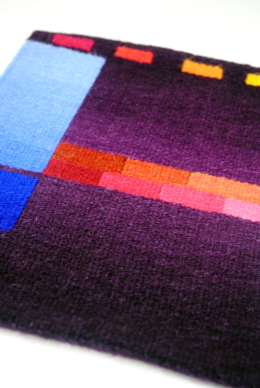 Woven sample for the client to show final choices of colors for Emergence VIII in woven form.