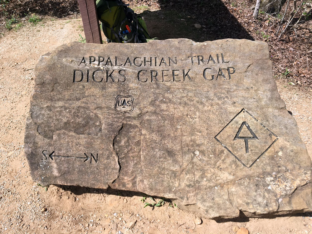 Dick's Creek Gap trailhead