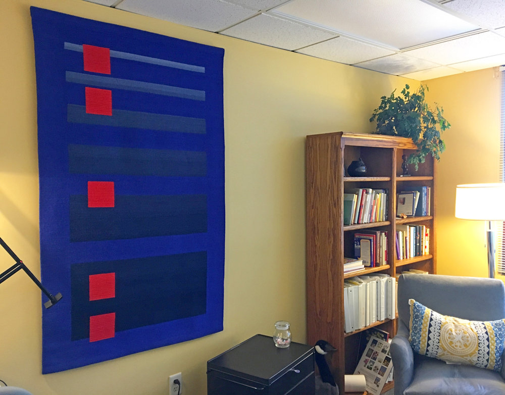 Yesterday's Red (2007) installed in psychologist office, New York