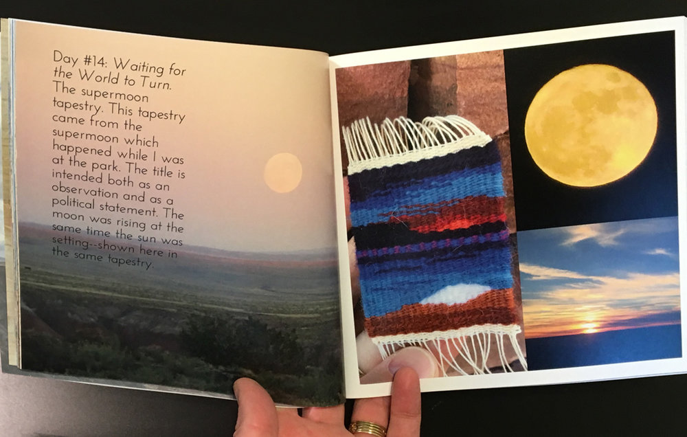 Sample pages from the 7 x 7 inch softcover book