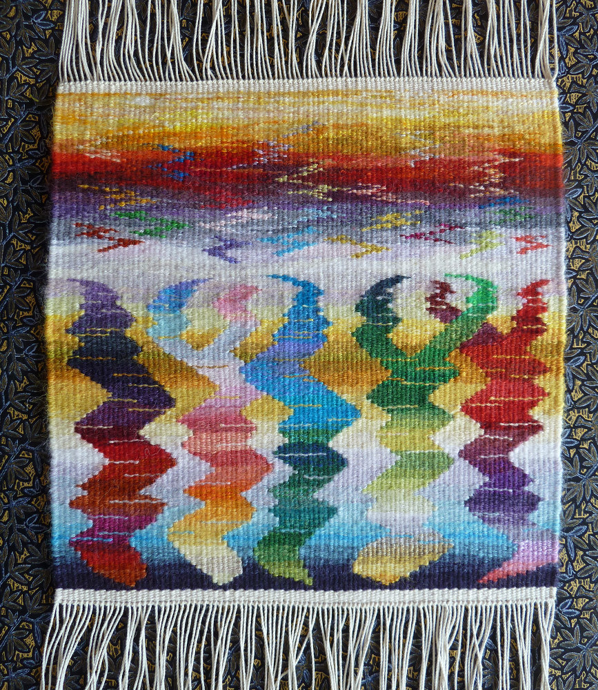 Helen Smith, tapestry woven in  Weaving Tapestry on Little Looms  online class with Rebecca Mezoff