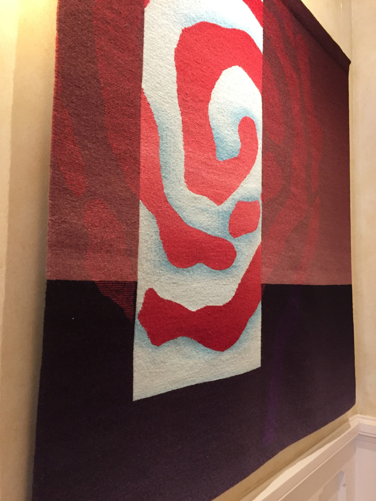 Rebecca Mezoff,  Emergence VII,  handwoven tapestry, wool, silk, 45 x 45 inches