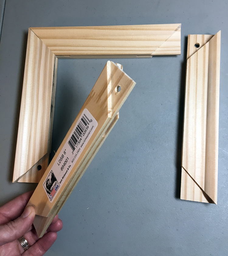 Stretcher frames used for mounting small format tapestries