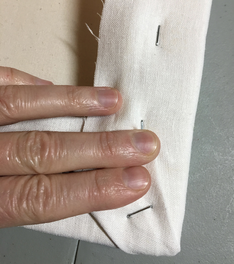 Staple the folds a few times to secure