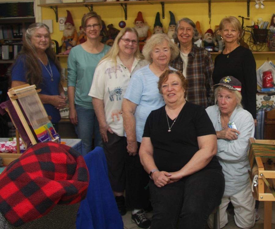 Belinda, Rebecca, Kathi, Marilyn, Maurine, Elaine, (front) Beverly, Vicki. Photo: Al Adrezin