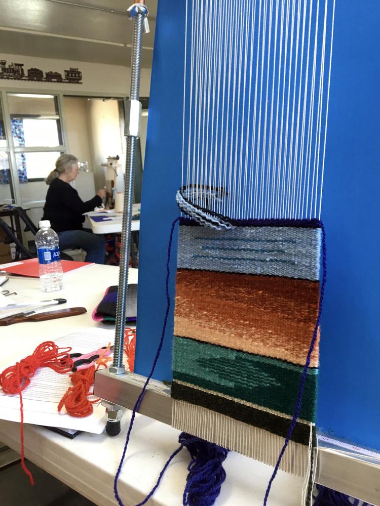 Color gradation weaving by Lynn Breckenridge