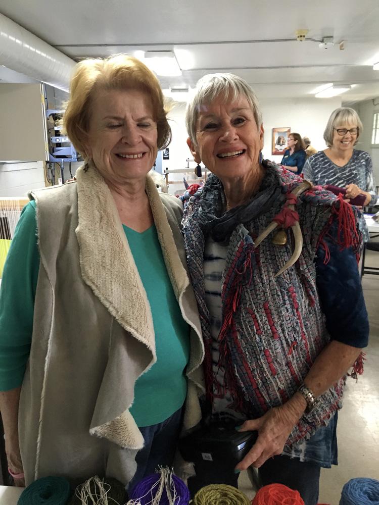 Maureen and Jan. Mesilla Valley Weavers.