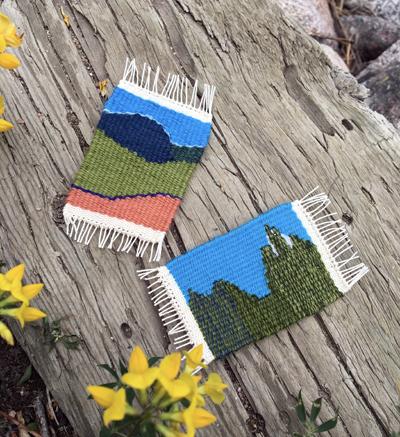 Kathy Popoff's weavings