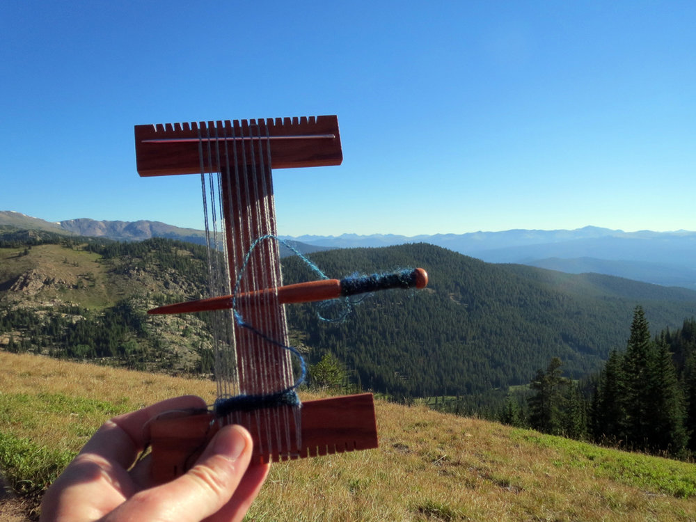 Weaving above treeline