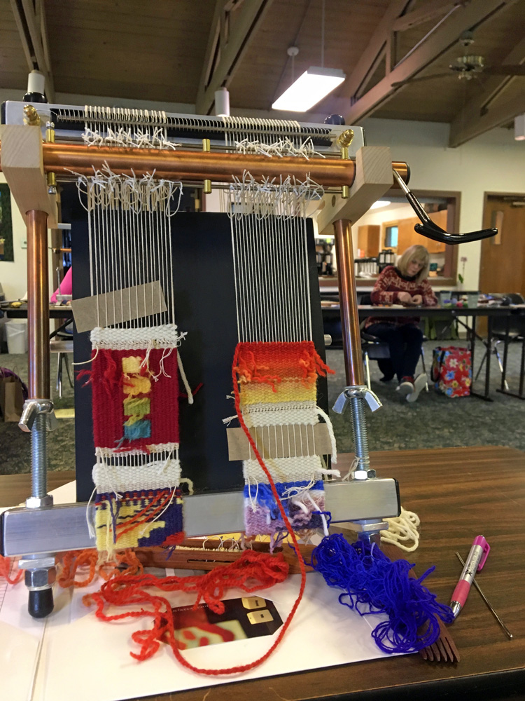 Mar's weavings from the back