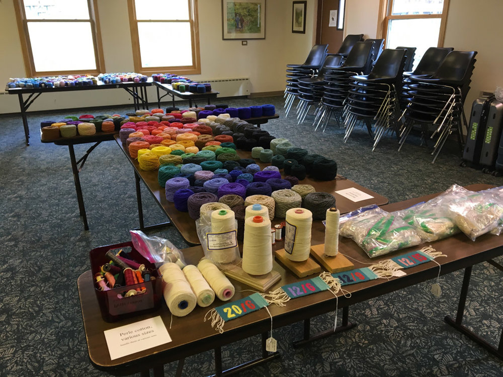 Yarn tables ready to go