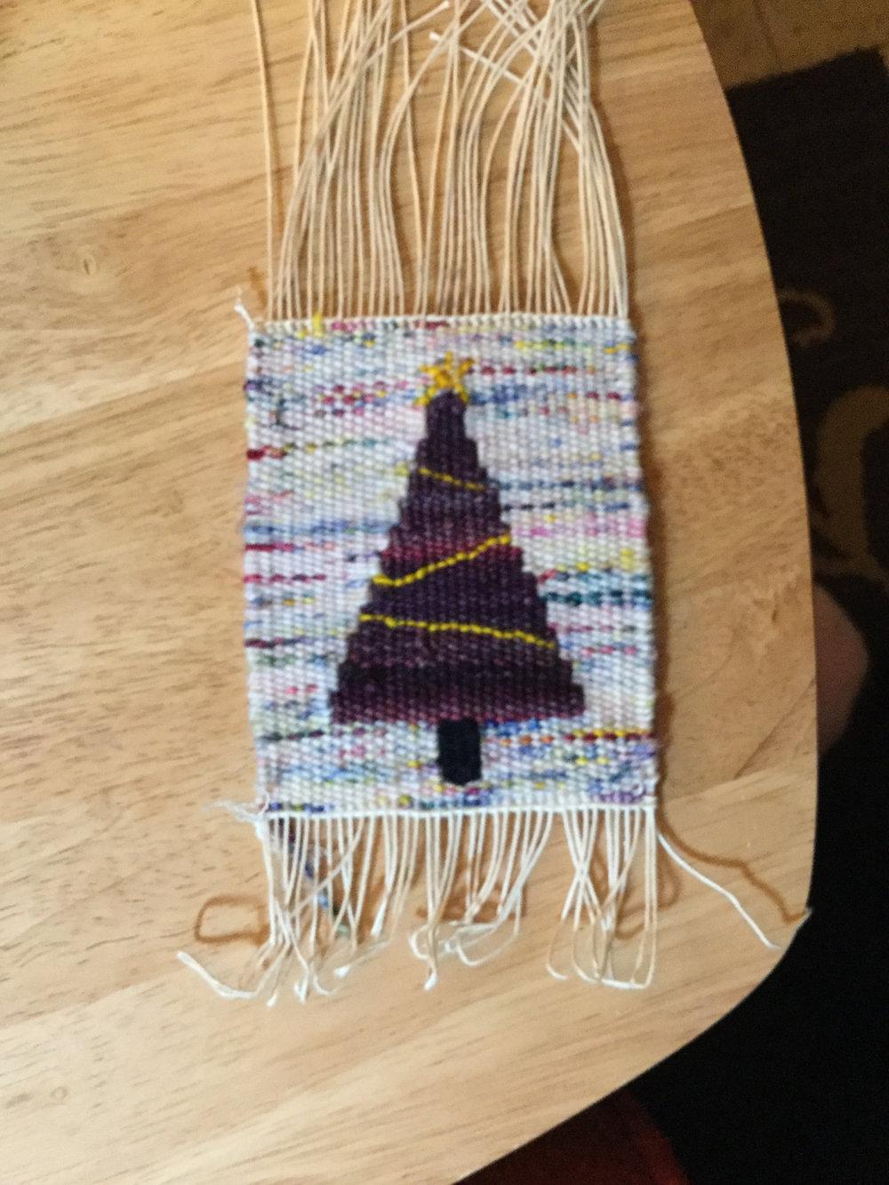 Sherri Mayben's holiday tree, #holidaytapestry17