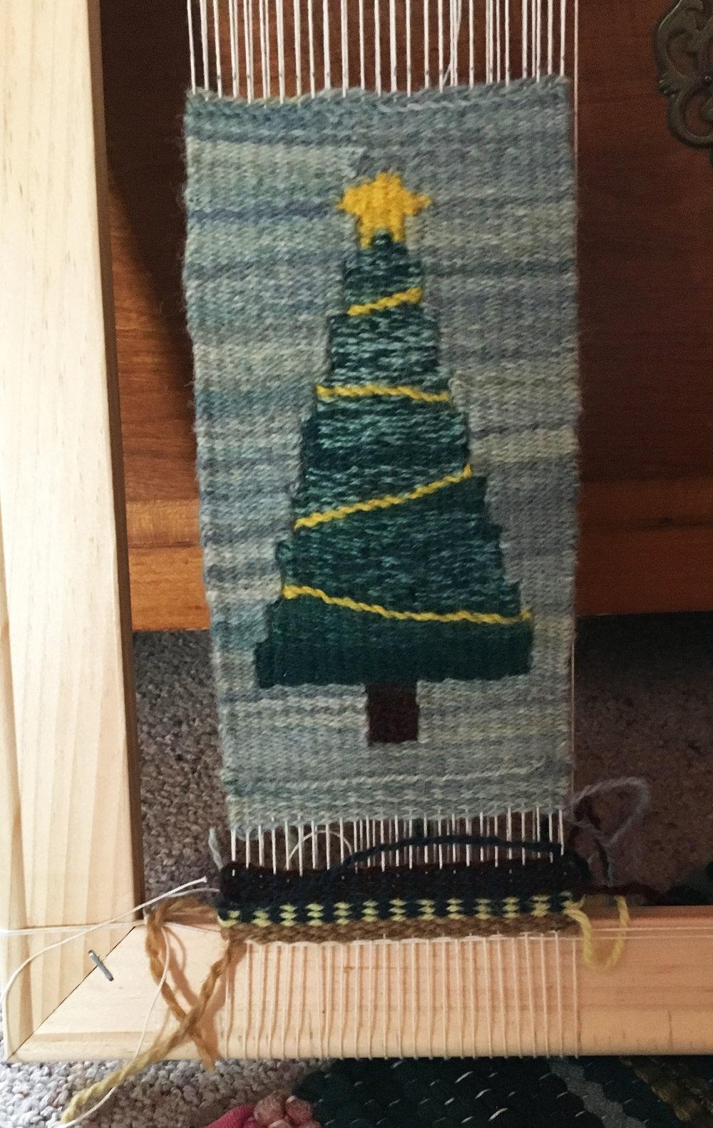Mimi Jost's tree on the loom