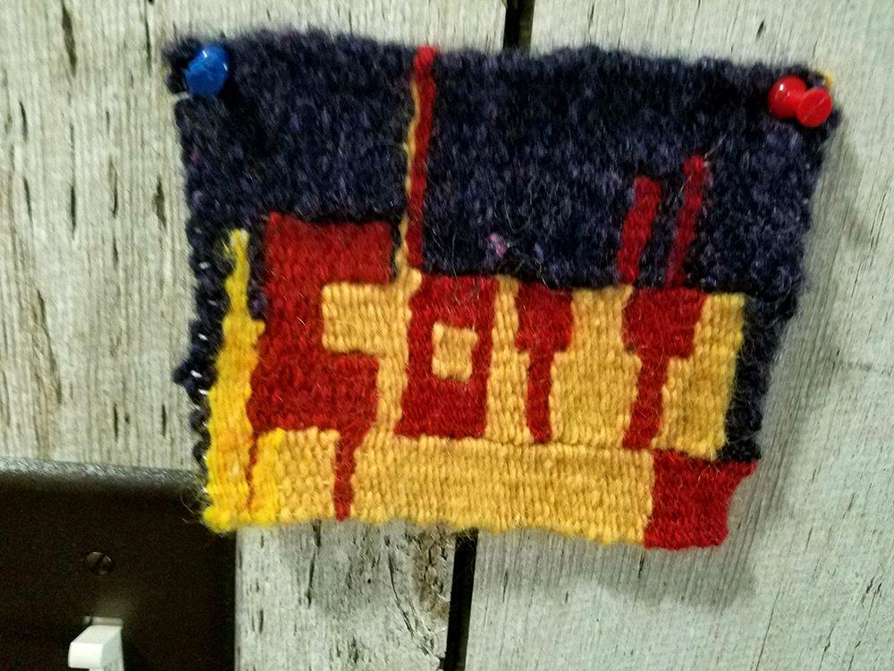 "Janet Kovach, ""Got it!"", tapestry"
